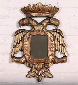 EAGLE CARVED GILT WOOD MIRROR CIRCA 1880