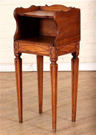 19TH CENTURY CONTINENTAL CARVED OAK STAND