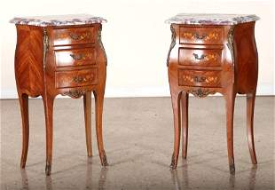 PAIR FRENCH LOUIS XV STYLE NIGHT STANDS C.1940