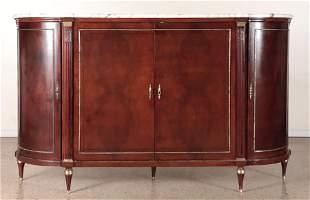 LOUIS XVI STYLE BURL WALNUT BAR CABINET C.1900