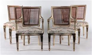 SET 6 LOUIS XVI STYLE DINING CHAIRS CIRCA 1920