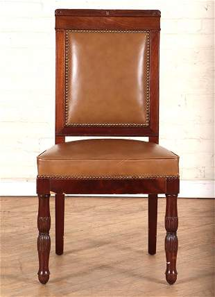 FRENCH 19TH C MAHOGANY SIDE CHAIR MANNER OF JACOB