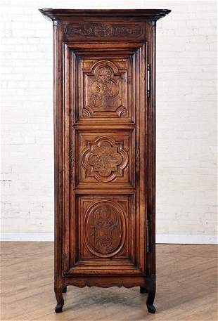 19TH C. FRENCH CARVED WALNUT CABINET