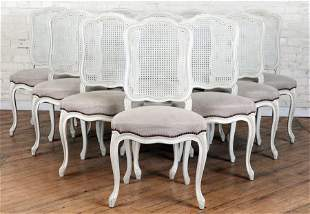 SET 10 FRENCH LOUIS XV STYLE DINING CHAIRS