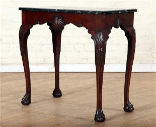 CHIPPENDALE STYLE MAHOGANY CONSOLE TABLE C.1920