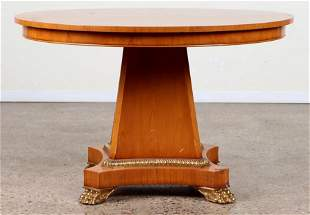 WILLIAM SPITZER BANDED MIXED WOOD DINING TABLE
