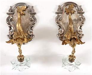 PAIR OF SIGNED CALDWELL SINGLE ARM SCONCES