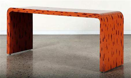 KARL SPRINGER STYLE LACQUERED WATERFALL CONSOLE