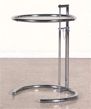 CHROME END TABLE DESIGNED BY EILEEN GRAY 1980