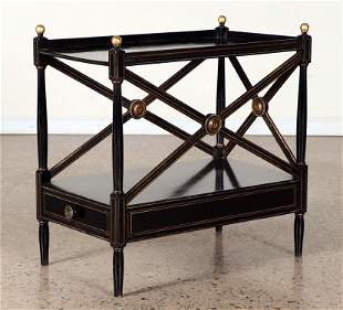 PAINTED AND GILT REGENCY STYLE SIDE TABLE
