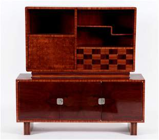 2-PART AUSTRIAN ART DECO DESK/BOOKCASE C.1935