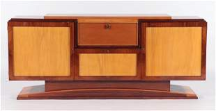 FRENCH ROSEWOOD ART DECO SIDEBOARD C.1930