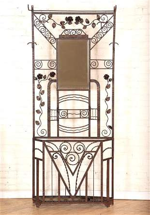 FRENCH WROUGHT IRON ART DECO COAT STAND C.1925