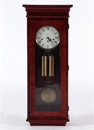 HOWARD MILLER MAHOGANY WALL REGULATOR CLOCK
