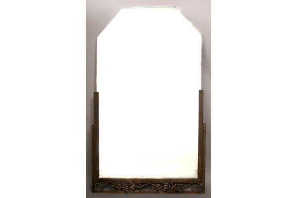 5: FRENCH ART DECO IRON MIRROR FER FORGE