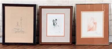 THREE MODERN PRINTS DALI AND GIACOMETTI