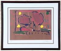 """PETER MAX """"EARTH FLOWERS"""" COLOR LITHOGRAPH SIGNED"""