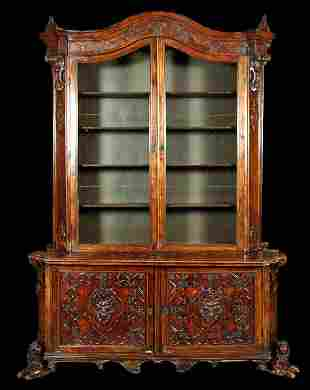 MONUMENTAL PAIR 18TH CENTURY PORTUGUESE CABINETS
