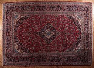 SEMI ANTIQUE PERSIAN KASHAN RUG