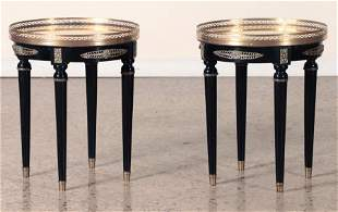 PAIR FRENCH EMPIRE STYLE BRONZE MOUNTED TABLES
