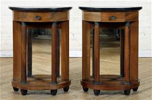PAIR FRENCH EMPIRE TABLE STANDS C. 1900