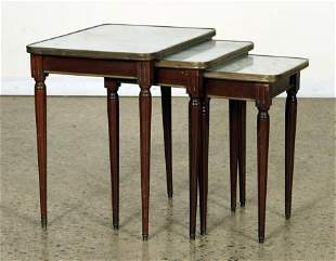 BRONZE MOUNTED MAHOGANY NEST OF TABLES C.1940