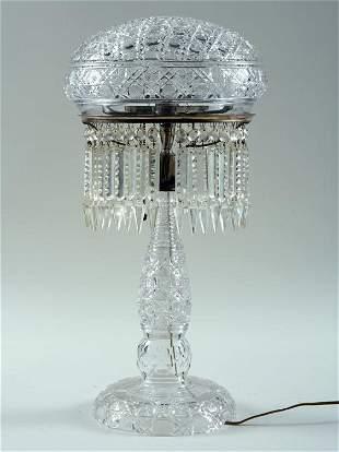 AMERICAN BRILLIANT PERIOD CUT GLASS LAMP