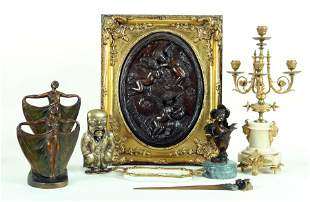 EIGHT PICE LOT OF DECORATIVE METALWARE