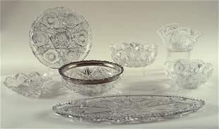 7PC. LOT OF AMERICAN BRILLIANT PERIOD GLASS 1890