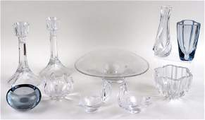 10 PC. LOT OF CONTEMPORARY CRYSTAL ITEMS