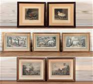GROUPING OF SEVEN ASSORTED FRAMED PRINTS