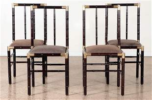SET 4 FAUX BAMBOO CHAIRS MANNER BILLY HAINES 1970