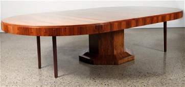 LARGE ROUND ROSEWOOD DINING TABLE ART DECO STYLE