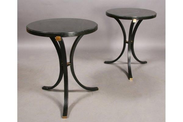 21: PR REGENCY STYLE STEEL BRONZE GUERIDONS TABLES