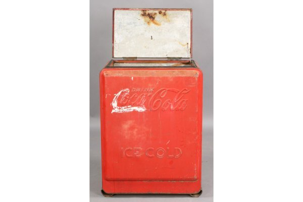 478: VINTAGE COKE COCA-COLA ICE BOX SODA - 7
