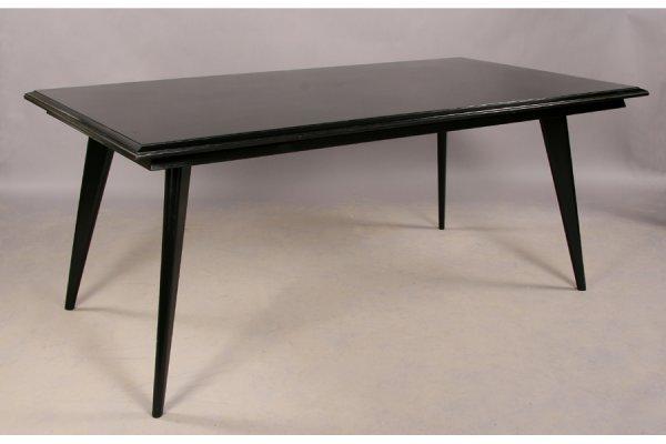 21: Modern ebonized dining table circa 1960