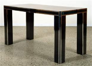 WALNUT DINING TABLE MANNER PAUL EVANS C. 1970