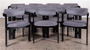 SET OF 12 ARM CHAIRS MANNER OF TOPIA SCARPA C. 1975