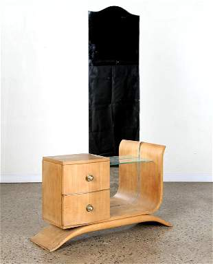 FRENCH SYCAMORE VANITY MANNER OF ANDRE ARBUS
