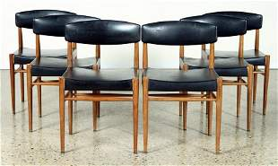 SET OF 6 DANISH STYLE DINING CHAIRS C. 1950