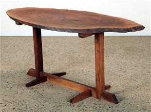 LIVE EDGE TABLE MANNER OF GEORGE NAKASHIMA