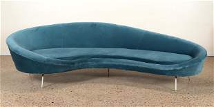 CURVED ITALIAN UPHOLSTERED SOFA MANNER FEDERICO MUNARI