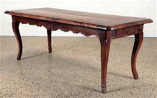 18TH CENTURY FARM TABLE SHAPED SKIRT