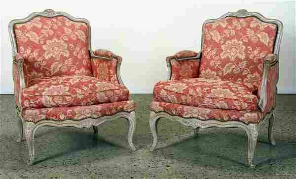 PAIR FRENCH LOUIS XV STYLE BERGERES C.1910