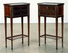 PAIR 19TH C. FRENCH MARBLE TOP NIGHTSTANDS