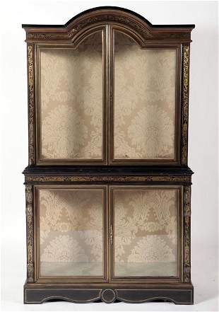 2 PART BOULLE INLAID DISPLAY CASE