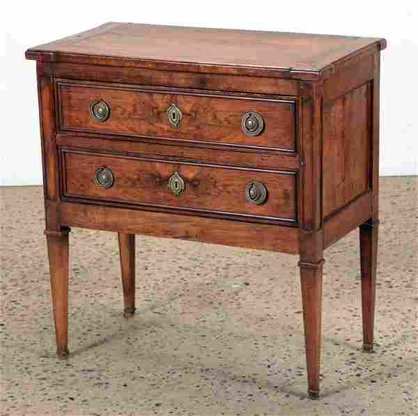 EARLY 19TH C. FRENCH WALNUT COMMODE
