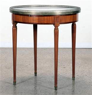 MARBLE TOP DIRECTOIRE STYLE TABLE C.1940