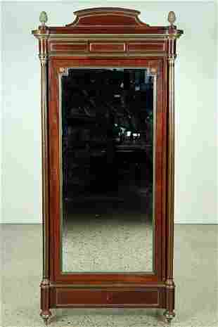 FRENCH DIRECTOIRE STYLE MAHOGANY ARMOIRE C.1910