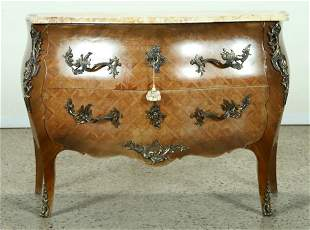 FRENCH LOUIS XV STYLE BOMBAY COMMODE